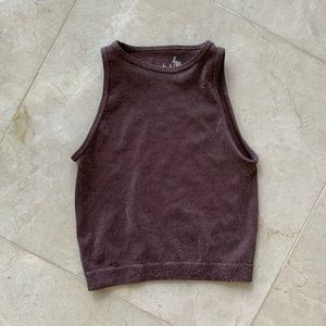 Sparkling fitted cropped tank